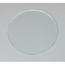 verre rond diam 74.8 mm ep: 2mm